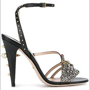 GUCCI MICHELE WANGY ankle heel sandals
